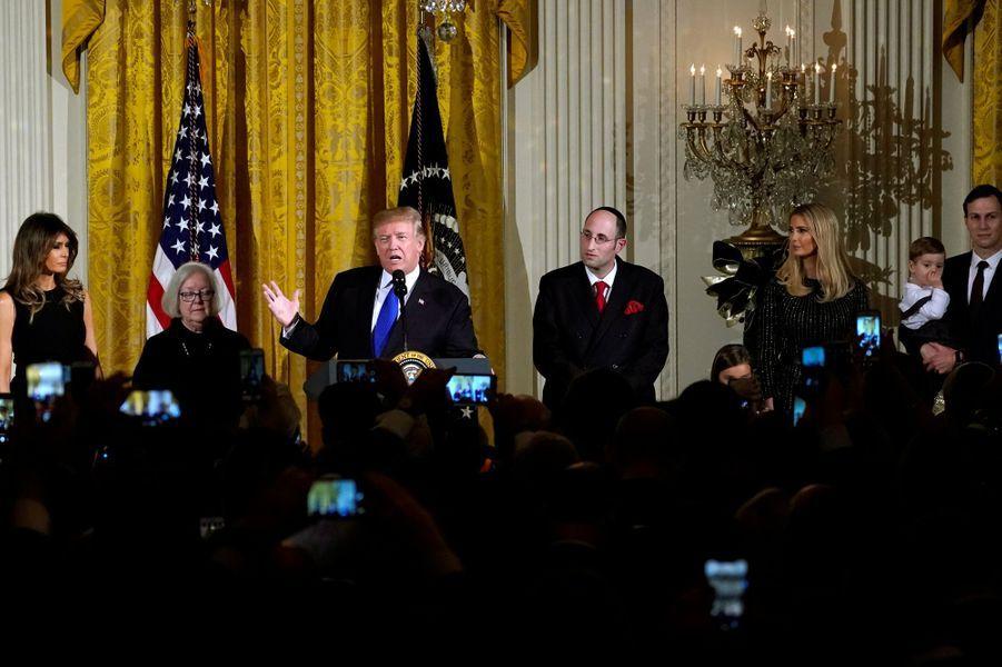 Donald Trump à la Maison Blanche, le 7 décembre 2017.