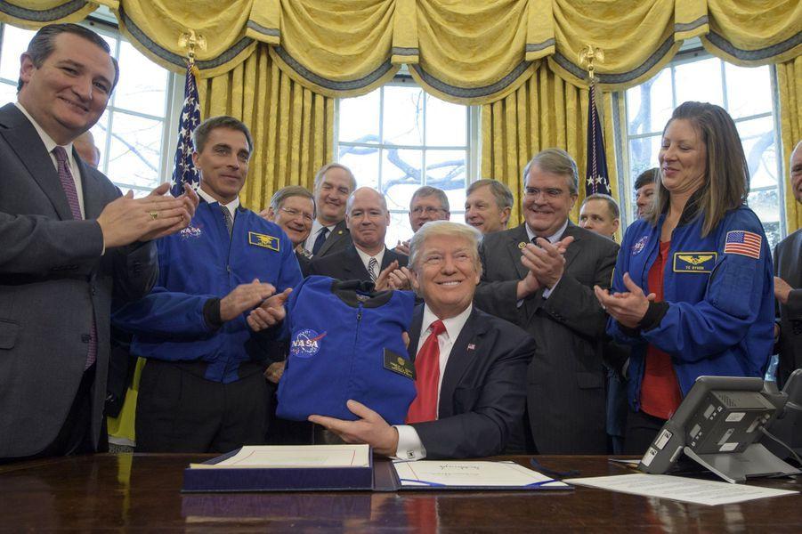 Donald Trump à la Maison Blanche, le 21 mars 2017.