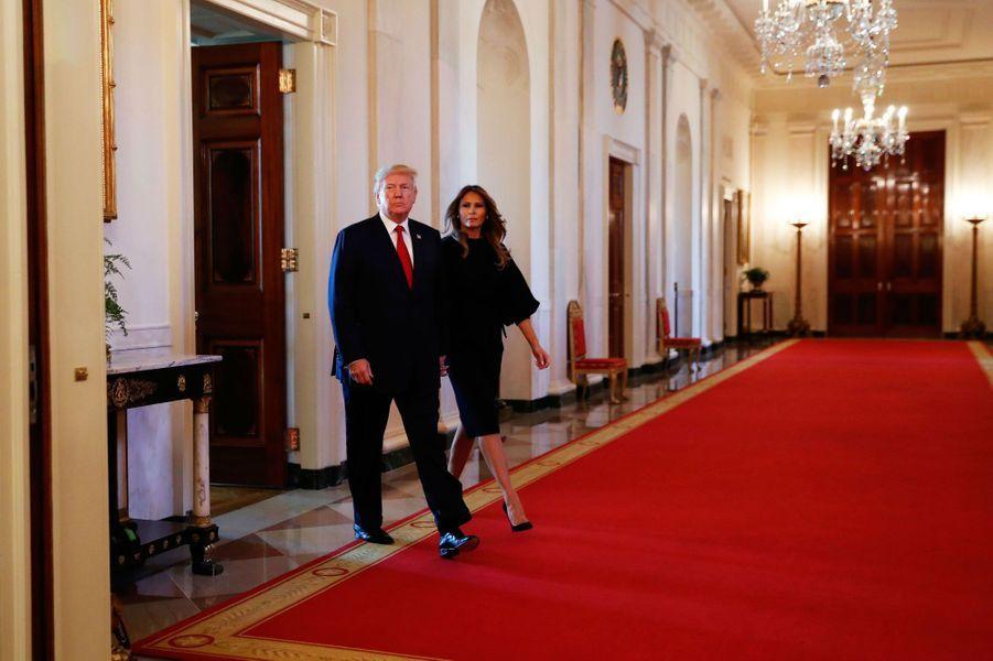 Donald et Melania Trump à la Maison Blanche, le 26 octobre 2017.