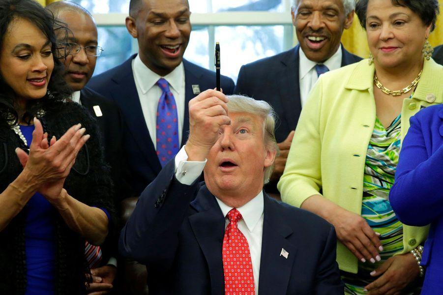 Donald Trump à la Maison-Blanche, en février 2017.