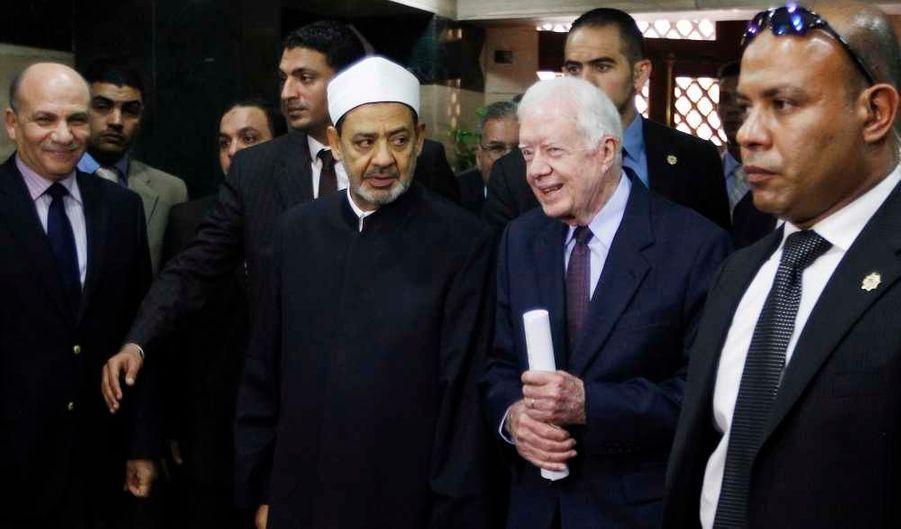 Jimmy Carter et Ahmed al-Tayyib, cheikh d'Al-Azhar