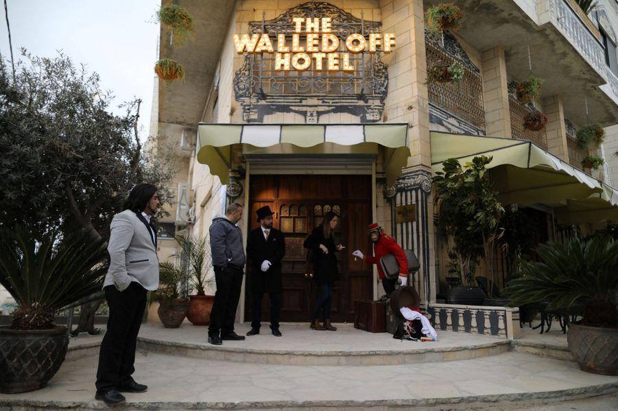 Le Walled-Off Hotel de Bansky, àBethléem.