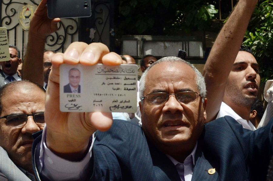 En Egypte, les journalistes en colère ont manifesté, le 4 mai 2016.