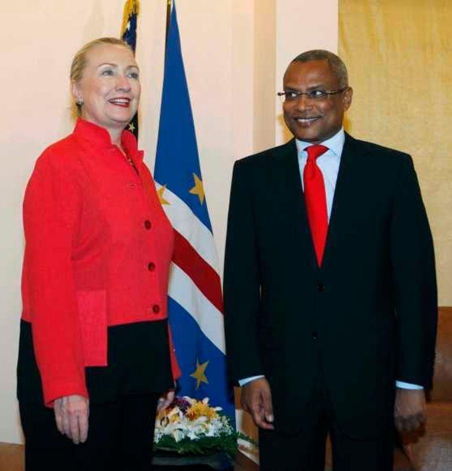 Hillary Clinton et José Maria Neve à Sal.
