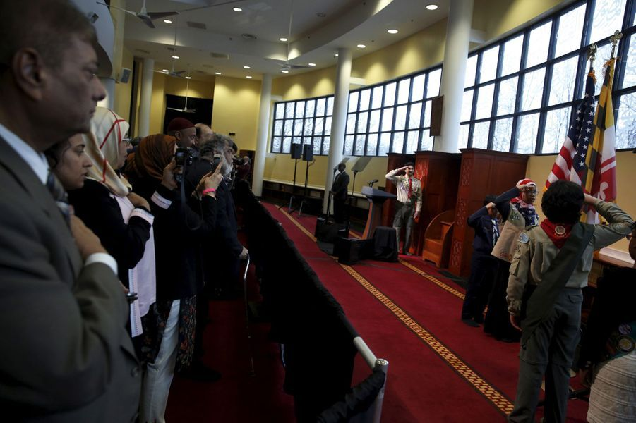 A Baltimore, Barack Obama visite une mosquée