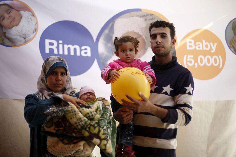 Rima est le 5000ème bébé né sans que sa mère ne meure en couches au sein du camp de Zaatari
