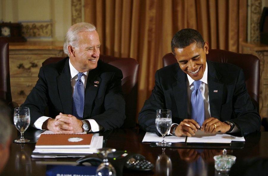 Joe Biden et Barack Obama novembre 2008