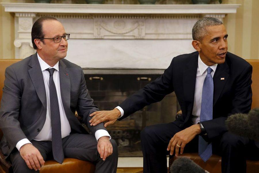 Barack Obama et François Hollande, à la Maison Blanche, le 24 novembre 2015