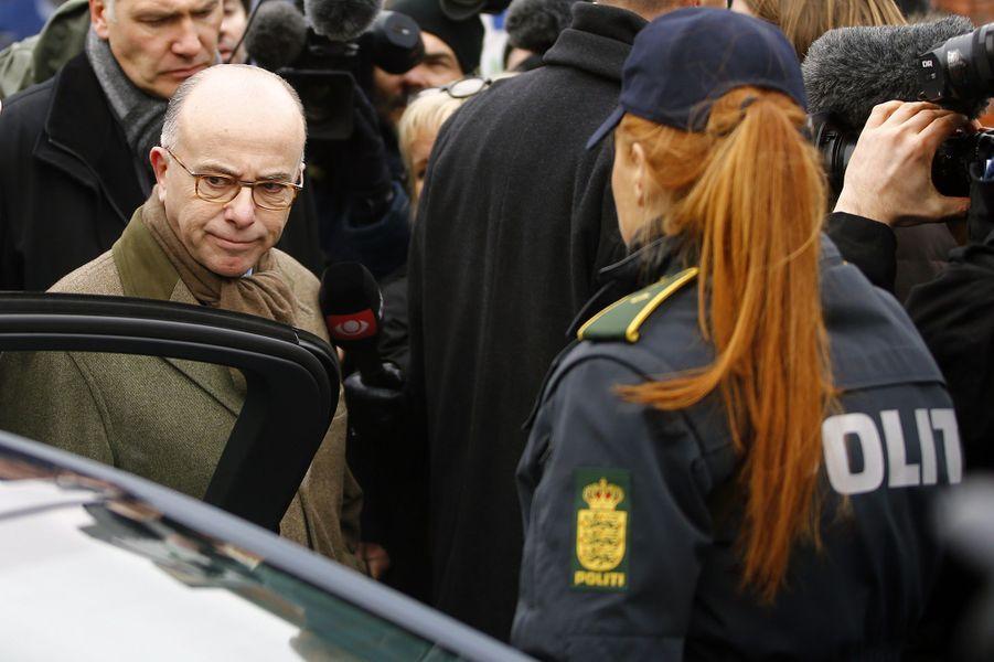 Le ministre français de l'Intérieur Bernard Cazeneuve à Copenhague