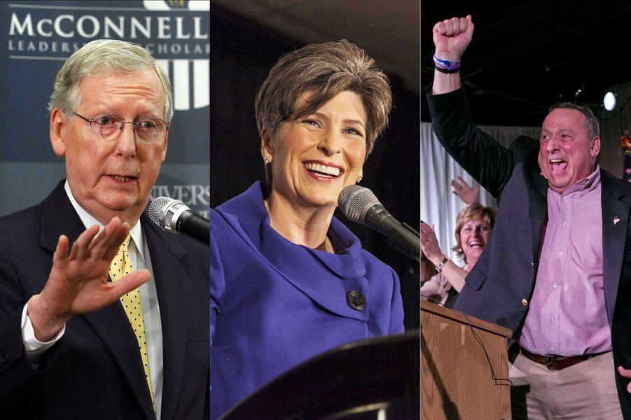 A l'issue des élections de mi-mandat, les Républicains ont raflé sept nouveaux sièges, leur permettant d'acquérir la majorité tant convoitée au Sénat, tout en renforçant leur pouvoir à la Chambre des représentant, qu'ils contrôlaient déjà. Non seulement l'administration Obama va devoir composer avec les conservateurs qui risquent de faire blocage sur chaque sujet sensible, mais les Démocrates vont surtout devoir engager une véritable opération reconquête d'ici à la présidentielle de 2016.En effet, en remportant des Etats clés comme l'Iowa, la Caroline du Nord, le Colorado ou encore la Géorgie, les Républicains ont prouvé qu'ils avaient conquis des électeurs dans des Etats qui avaient soutenu Obama, ce qui les place en bonne voie pour la prochaine grosse échéance électorale… D'autant qu'ils ont conquis de nouveaux postes de gouverneur dans l'Illinois, le Massachusetts, ou encore le Maryland.Zoom sur ces Républicains qui font trembler Obama.