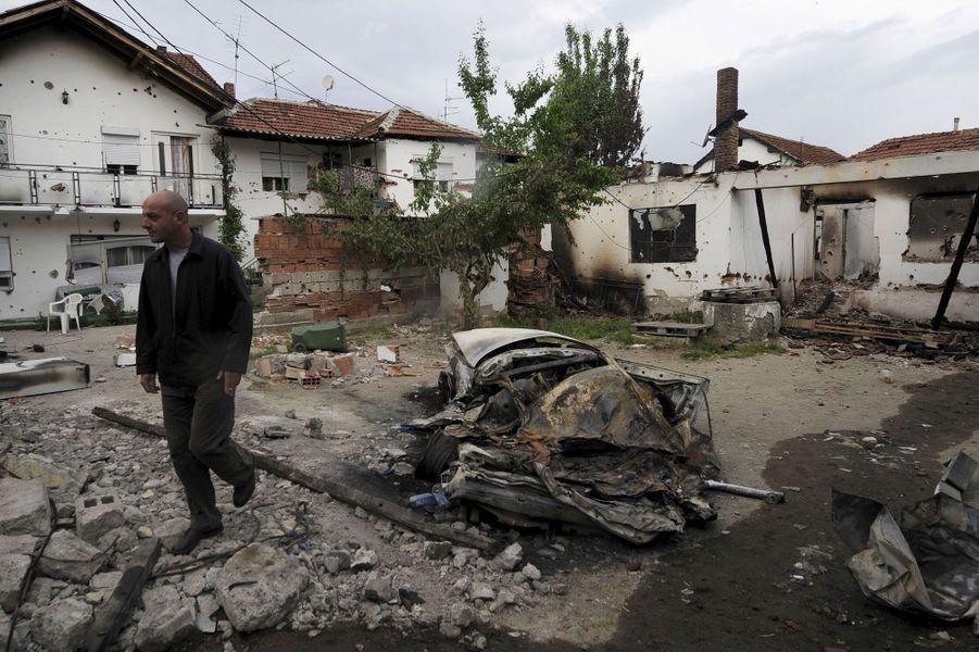 Des dizaines de maisons ont été détruites à Kumanovo