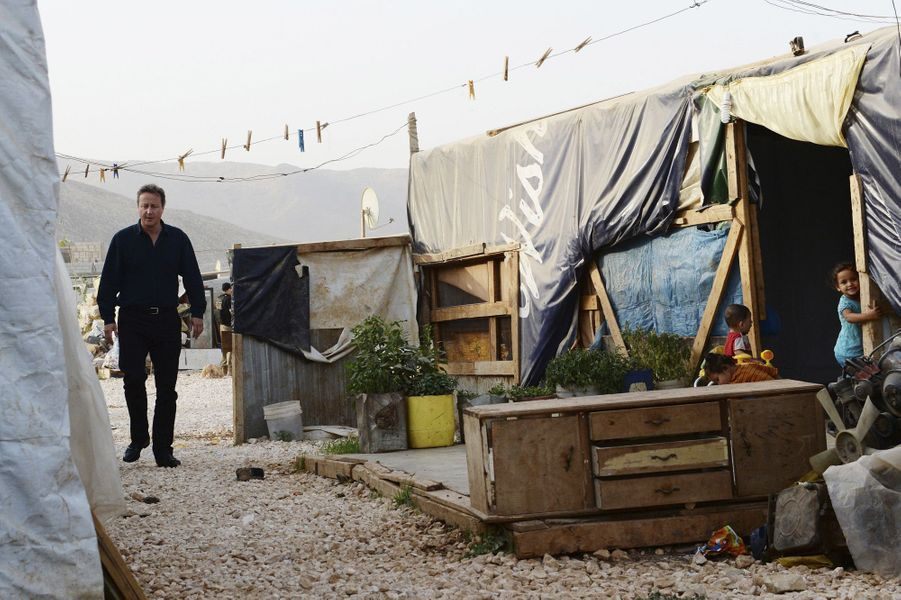 David Cameron à la rencontre des réfugiés syriens