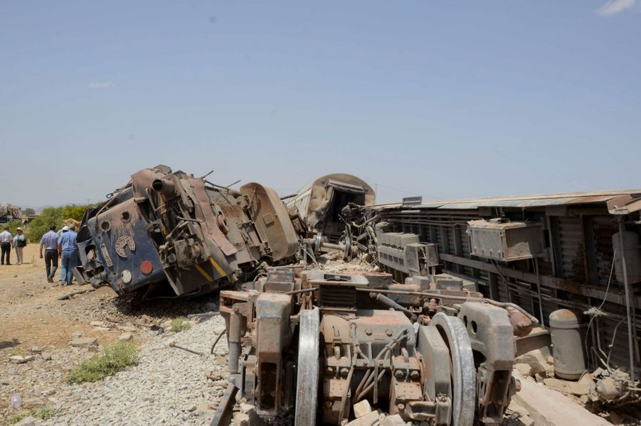 Dramatique accident de train en Tunisie