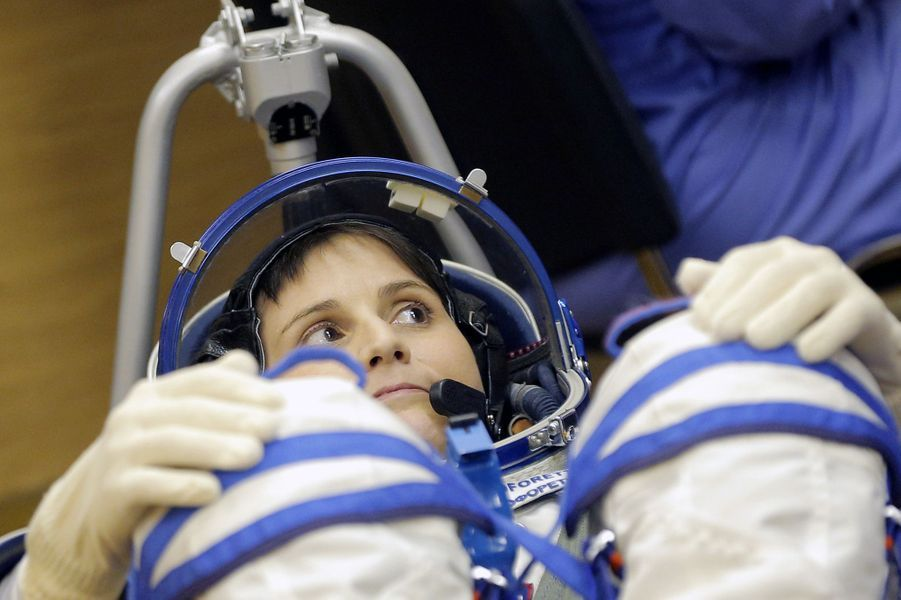 Entrainement de Samantha Cristoforetti, la première astronaute italienne