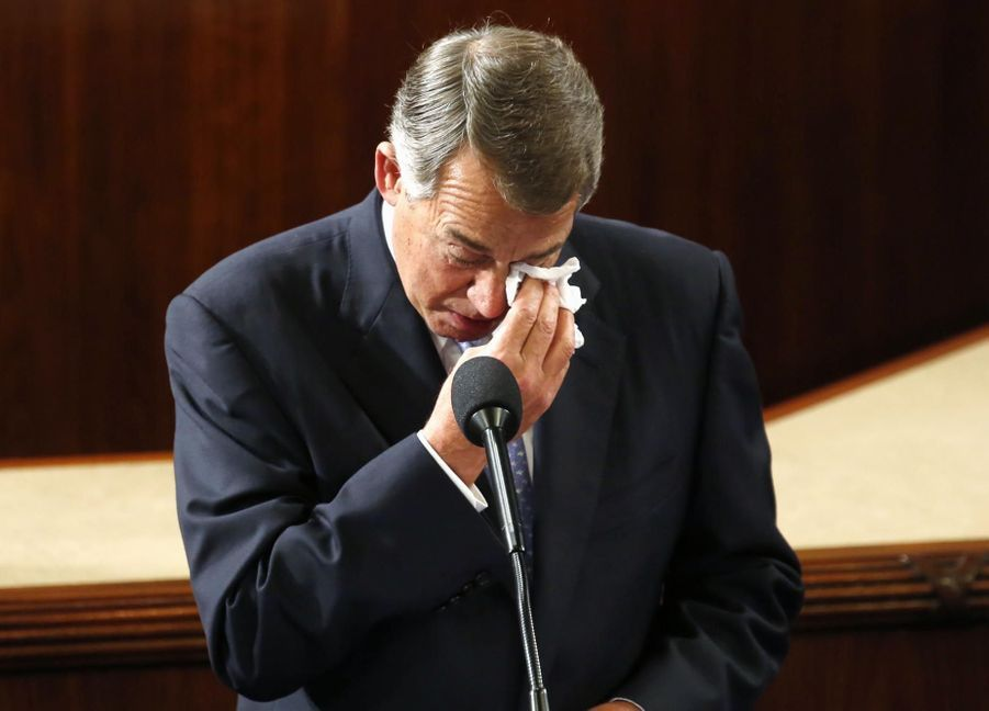 John Boehner, l'adieu aux larmes