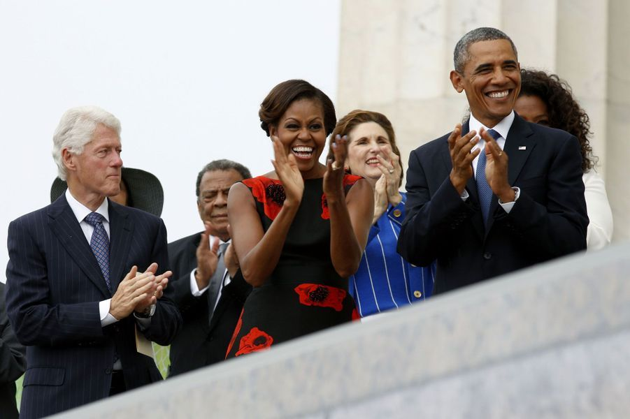 Bill Clinton, Michelle Obama et Barack Obama