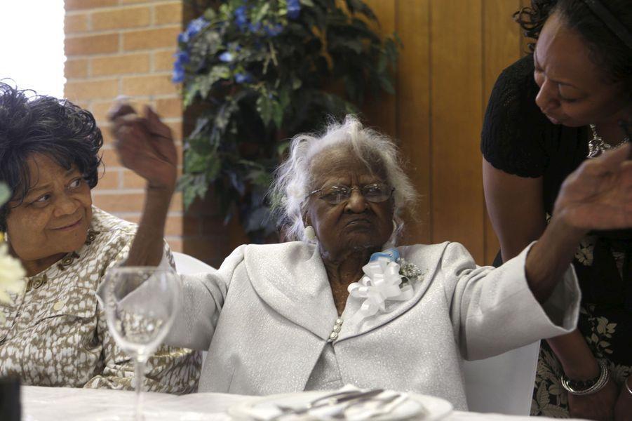 Jeralean Talley, la doyenne de l'humanité, est décédée à l'âge de 116 ans (photographiée en mai 2015)