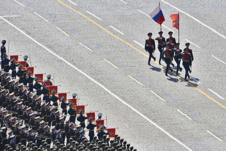 La place Rouge fête la victoire russe de 1945