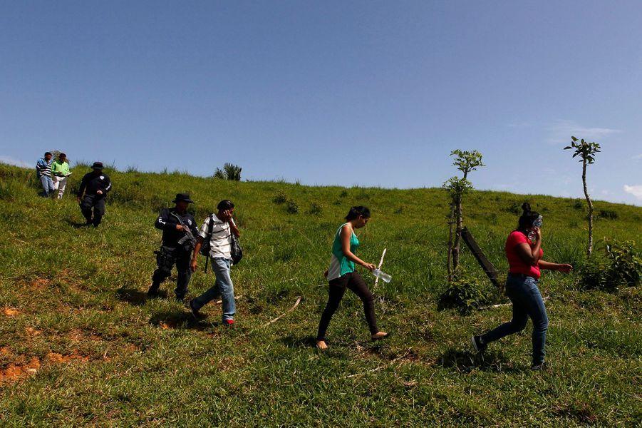 Le retour au pays des mineurs clandestins du Honduras