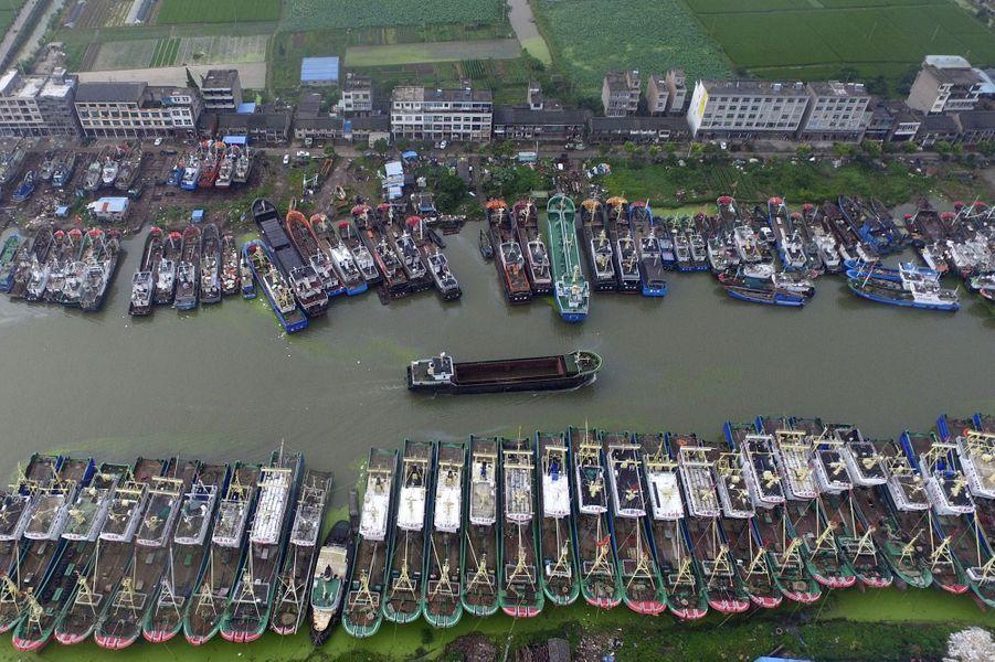 Le passage du typhon Chan-hom en Chine