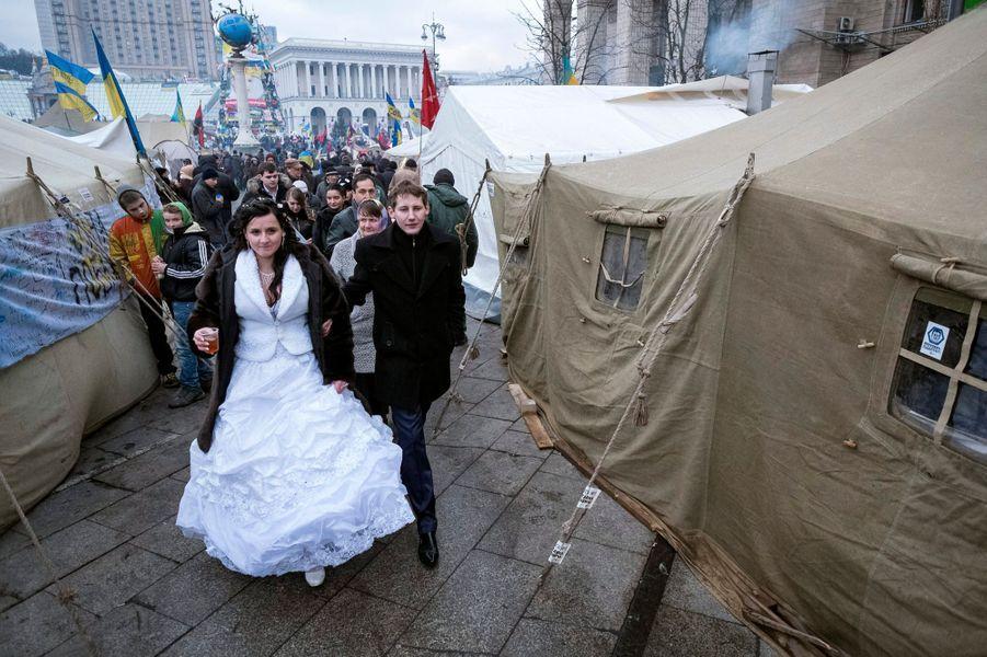 Photo prise à Kiev, en Ukraine, le 21 décembre 2013