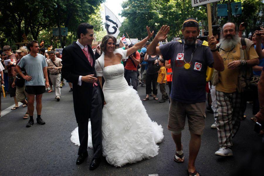 Photo prise à Madrid, en Espagne, le 24 juillet 2011