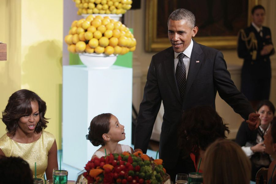 Les Obama invitent les enfants à leur table