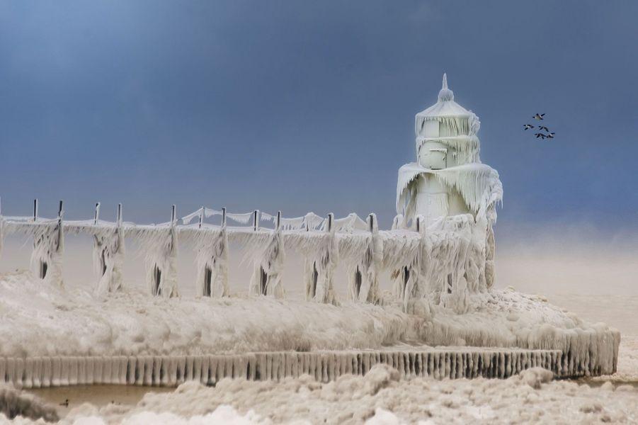 Les paysages glacés du Michigan