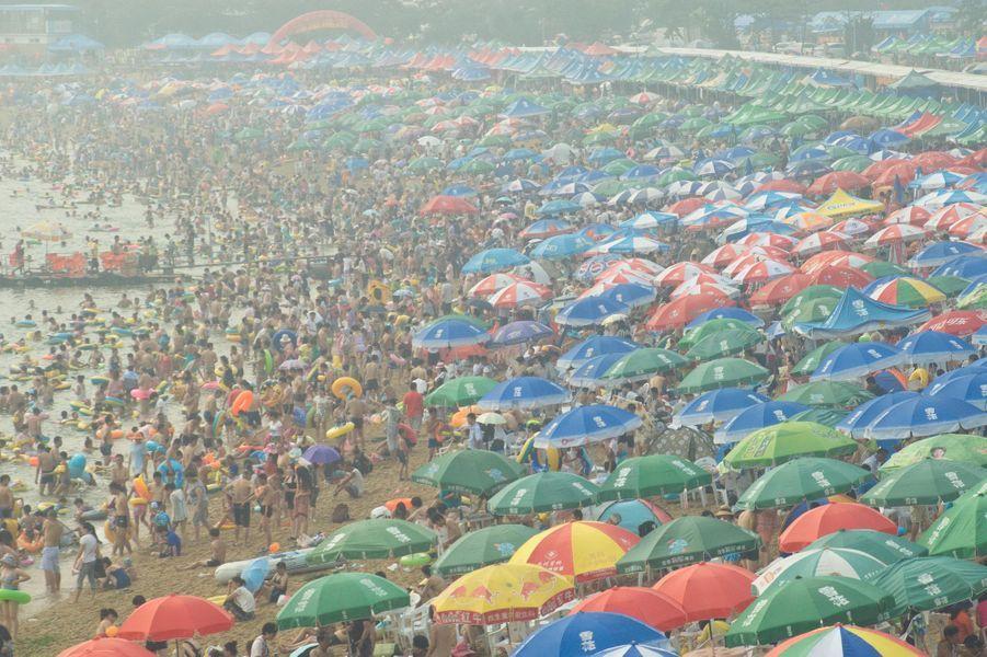 Le 16 août dernier sur la plage de Dalian, dans la province du Liaoning