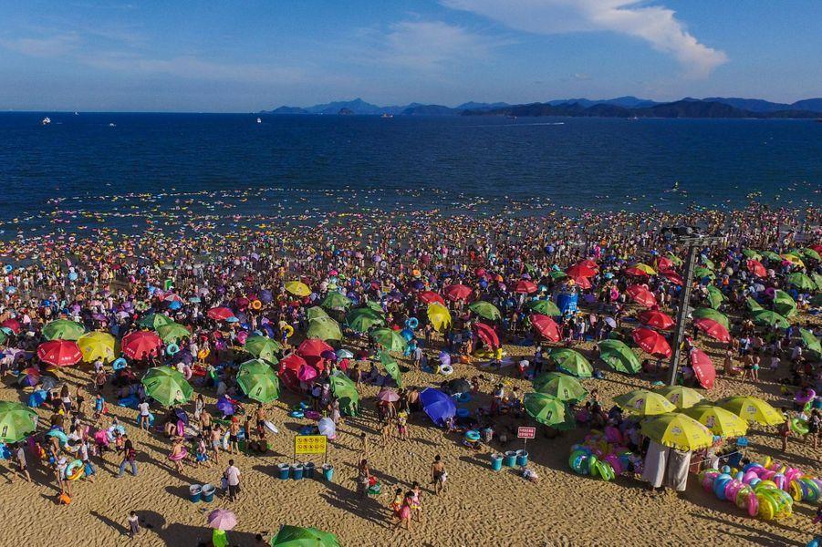 Le 2 août dernier sur la plage de Dameisha, dans la province de Guangdong