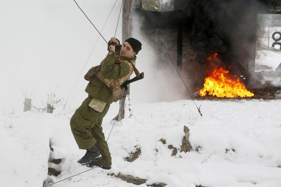 Les recrues ukrainiennes à l'entraînement