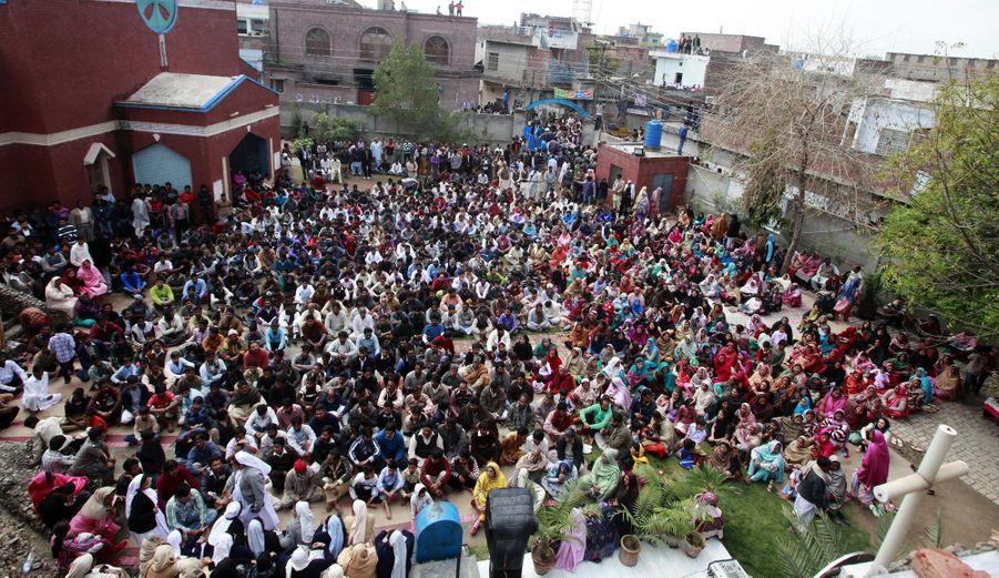 Manifestation de chrétiens au Pakistan