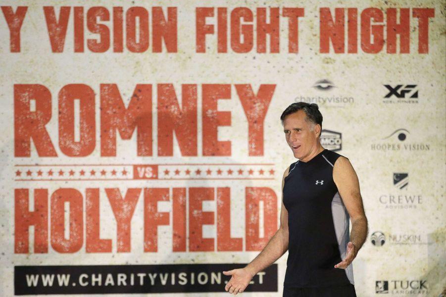 Mitt Romney affrontera Evander Holyfield lors d'un match de boxe