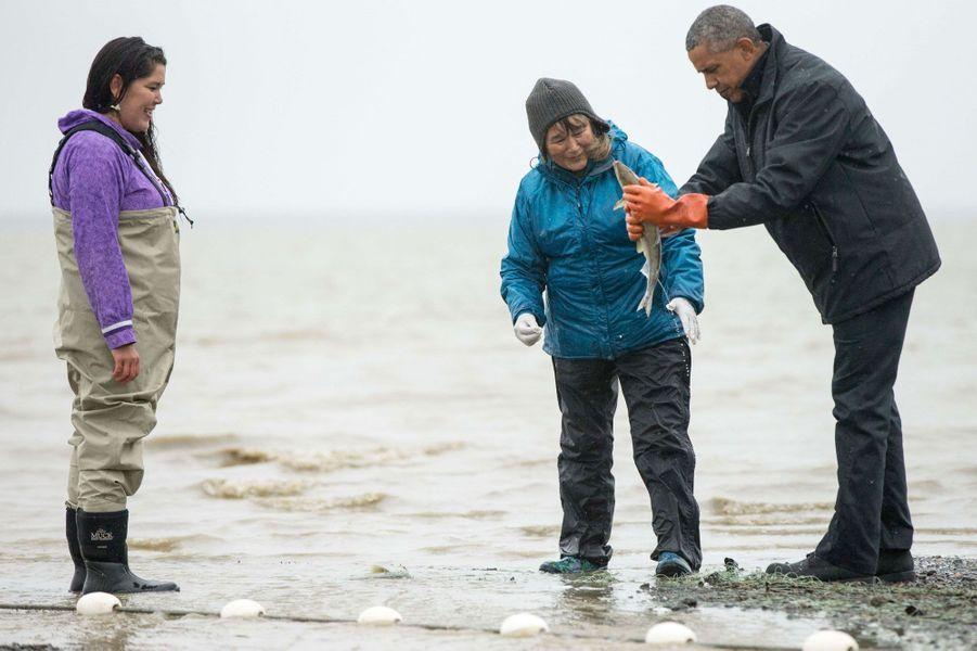 Obama, partie de pêche en Alaska