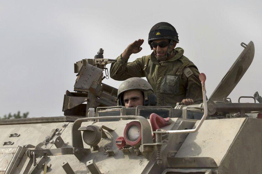 Sur le champ de bataille à Gaza