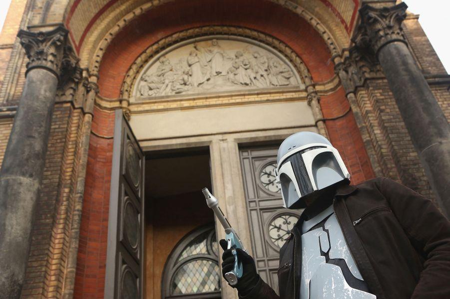 """Une église protestante célèbre le culte """"Star Wars"""", le 20 décembre 2015 à Berlin"""