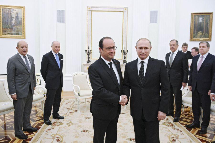 Rencontre entre François Hollande et Vladimir Poutine au Kremlin