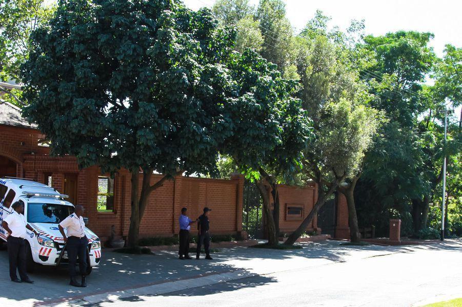 La maison d'Arnold Pistorius, l'oncle d'Oscar, située dans un quartier résidentiel surveillé de Pretoria
