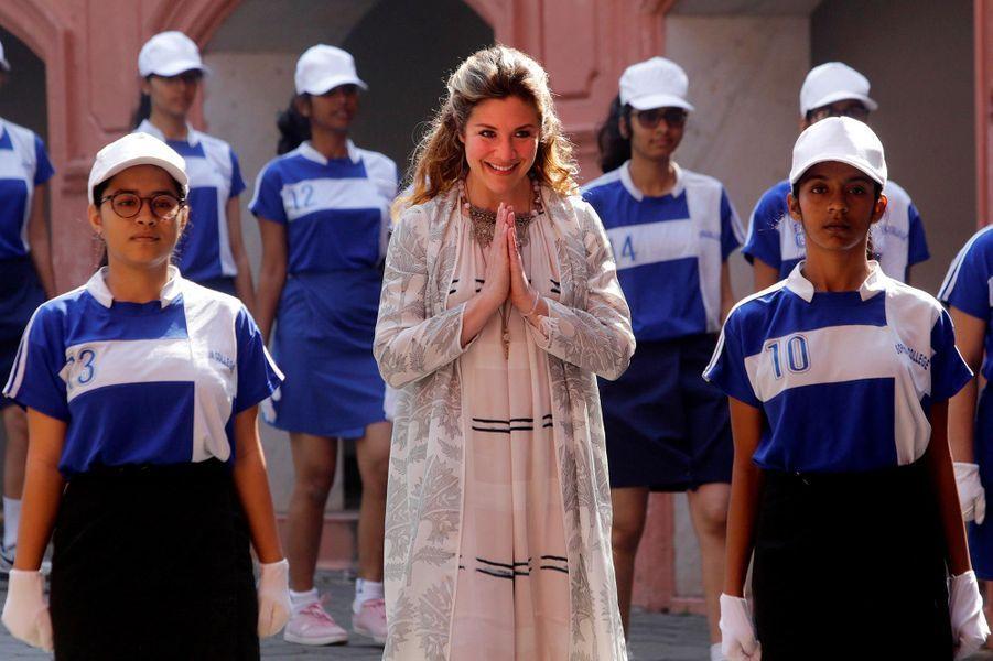 Sophie Grégoire à Bombay, le 20 février 2018.
