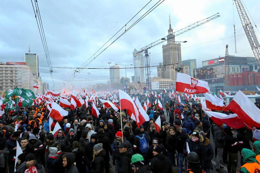 Manifestation à Varsovie, le 11 novembre 2017.