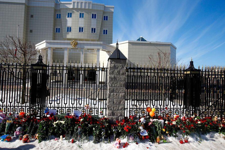 Deuil national en hommage aux 64 victimes de l'incendie de Kemerovo, le 28 mars 2018.