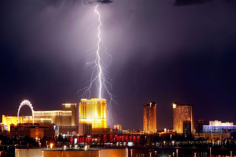L'orage mercredi à Las Vegas.