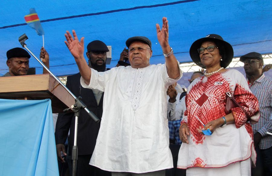 Etienne Tshisekedi et sa femme Marthe