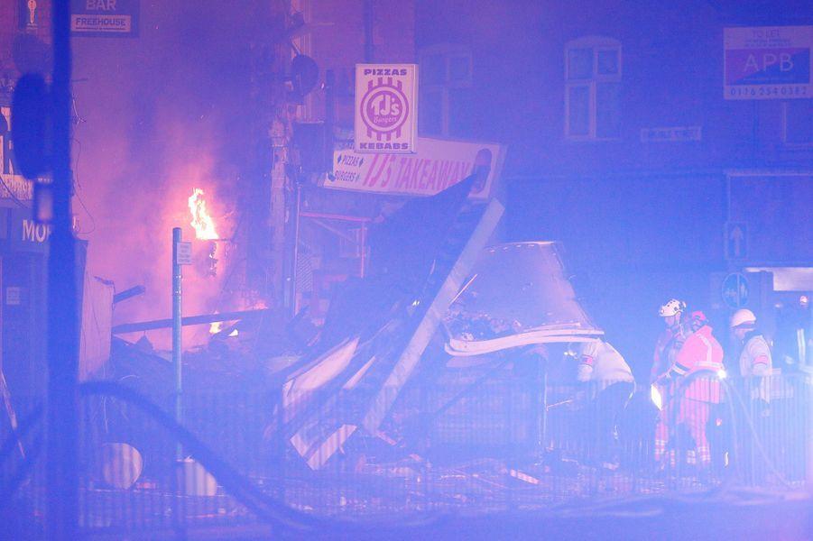 L'explosion et l'effondrement d'un immeuble de Leicester ont fait six blessés, dimanche.