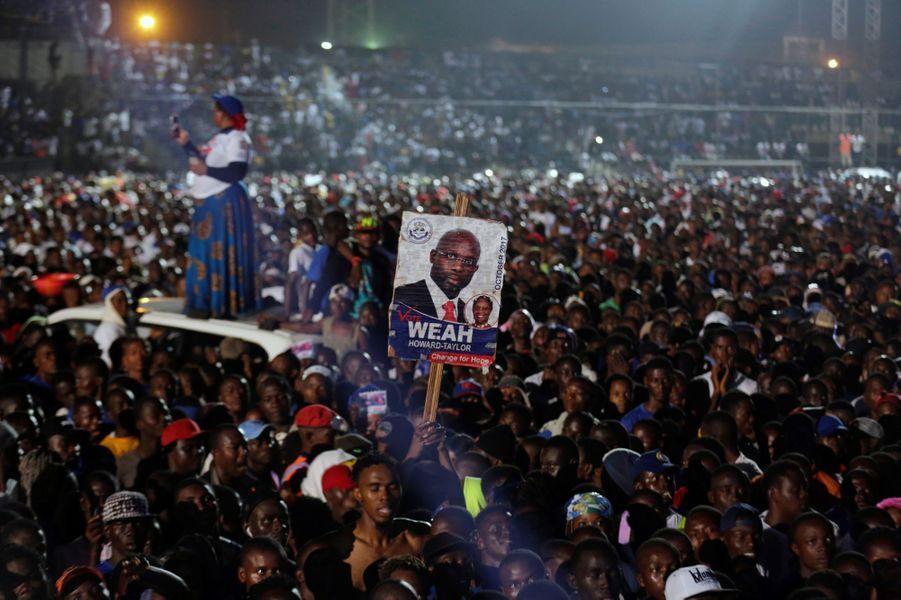 George Weah Monrovia octobre 2017