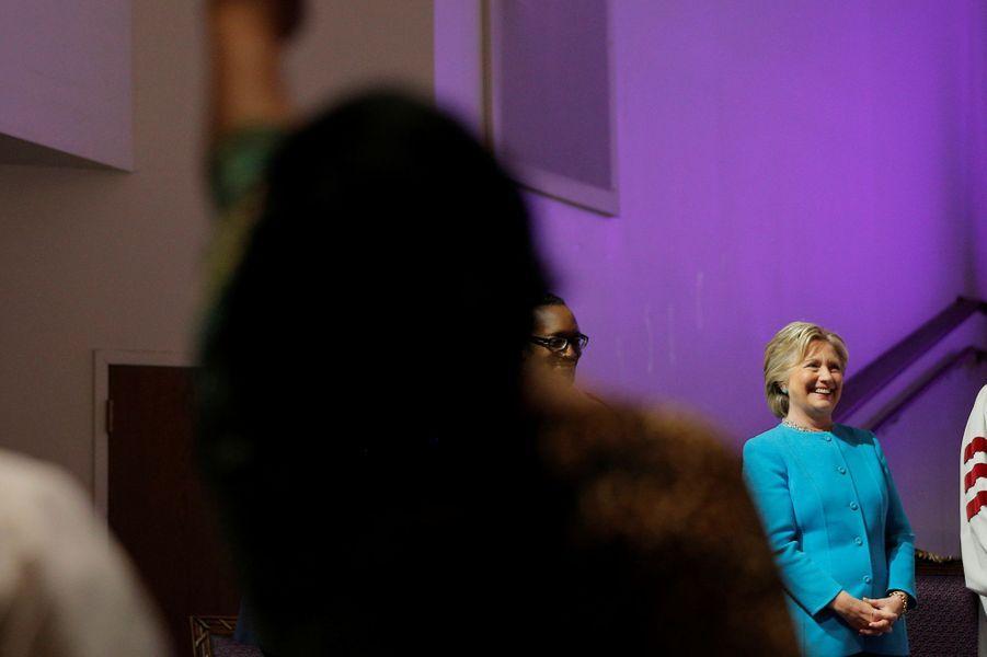 Hillary Clinton àl'église Mount Airy à Philadelphie, le 6 novembre 2016.