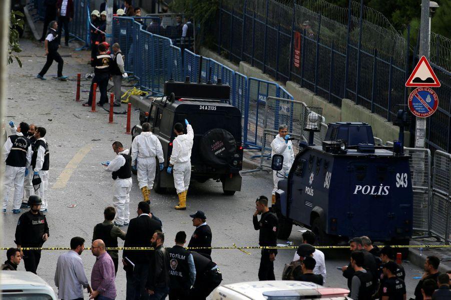 Au moins 10 personnes ont été blessées dans une attaque commise à Istanbul, jeudi 6 octobre 2016.