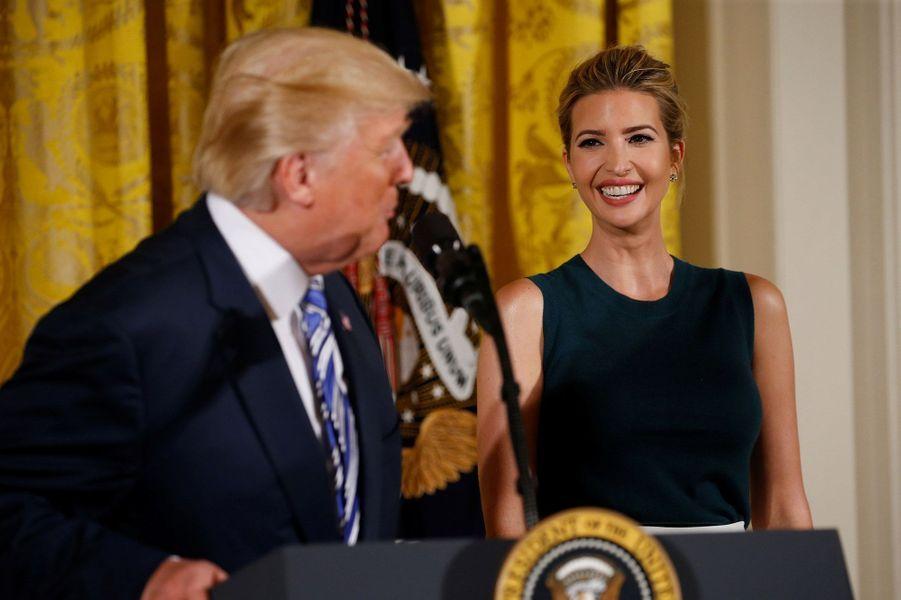 Donald et Ivanka Trump mardi à la Maison Blanche