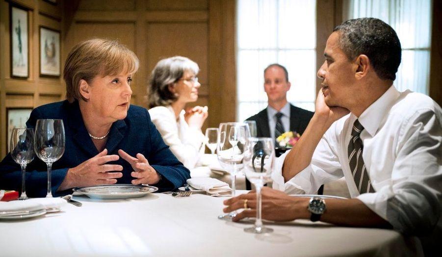 Angela Merkel et Barack Obama ont déjeuné ensemble au très chic restaurant 1789 à Washington. La chancelière allemande est en visite officielle aux Etats-Unis.