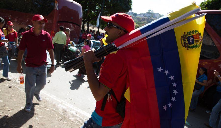 Muni de drapeaux